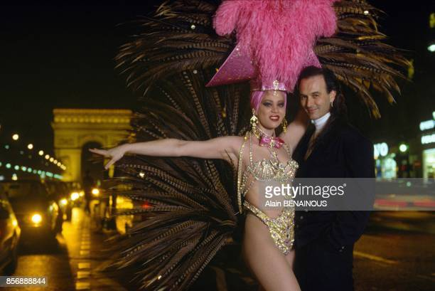 Bravissimo' the new variety show at Lido cabaret choregrapher David Le Blanc with a dancer on March 3 1990 in Paris France