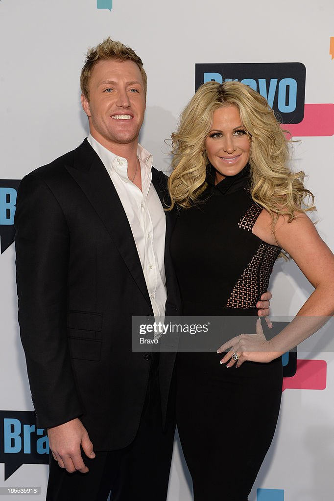 EVENTS -- 'Bravo Upfront 2013, Wednesday April 3rd at Stage 37 in New York City' -- Pictured: (l-r) Kroy Biermann, Kim Zolciak --