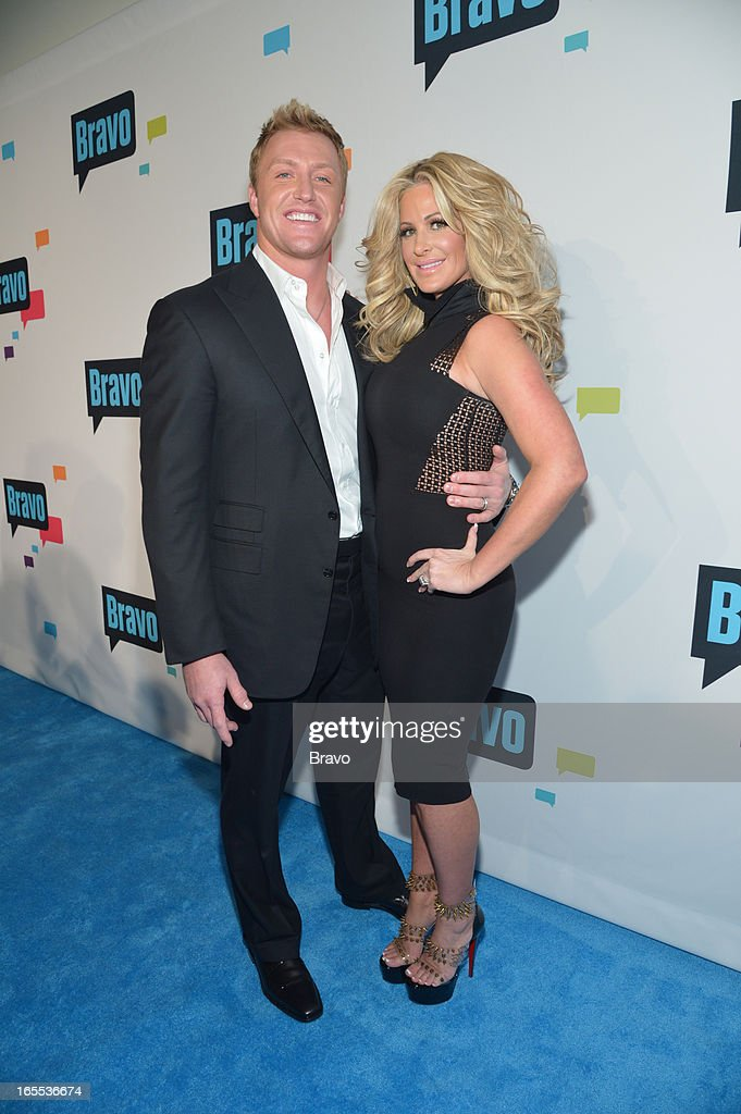EVENTS -- 'Bravo Upfront 2013, Wednesday April 3rd at Stage 37 in New York City' -- Pictured: (l-r) Kim Zolciak, Kroy Biermann --