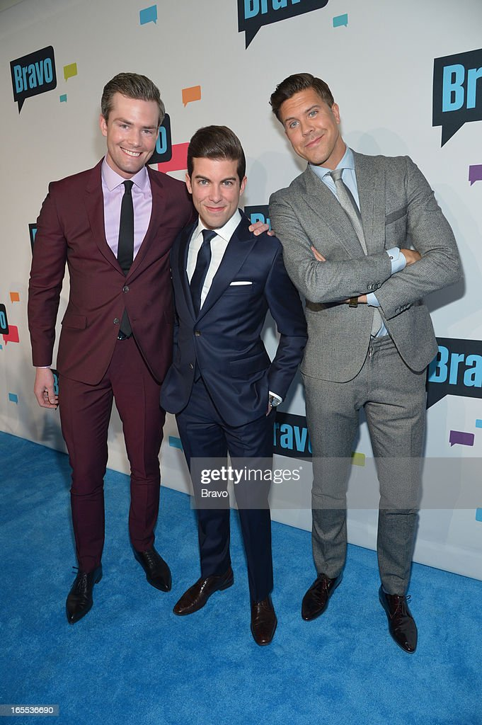 EVENTS -- 'Bravo Upfront 2013, Wednesday April 3rd at Stage 37 in New York City' -- Pictured: (l-r) Ryan Serhant, Luis D. Ortiz, Fredrik Eklund --
