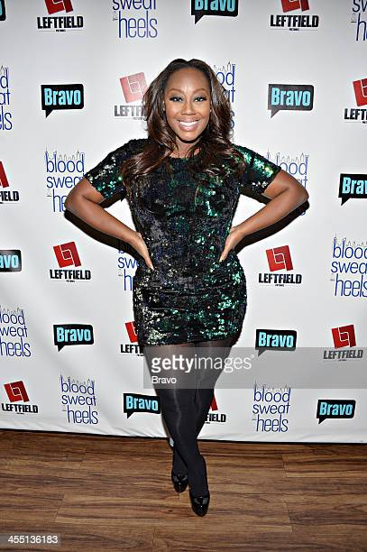 BLOOD SWEAT HEELS 'Bravo's Blood Sweat Heels Premiere Party' Pictured Geneva S Thomas during the 'Blood Sweat Heels' Premiere Party at Kristabelli in...
