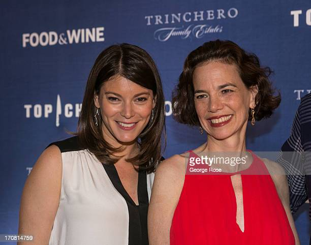 Bravo's Top Chef judge Gail Simmons poses with Food Wine Magazine EditorinChief Dana Cowen on June 13 in Aspen Colorado The 31st Annual Food Wine...