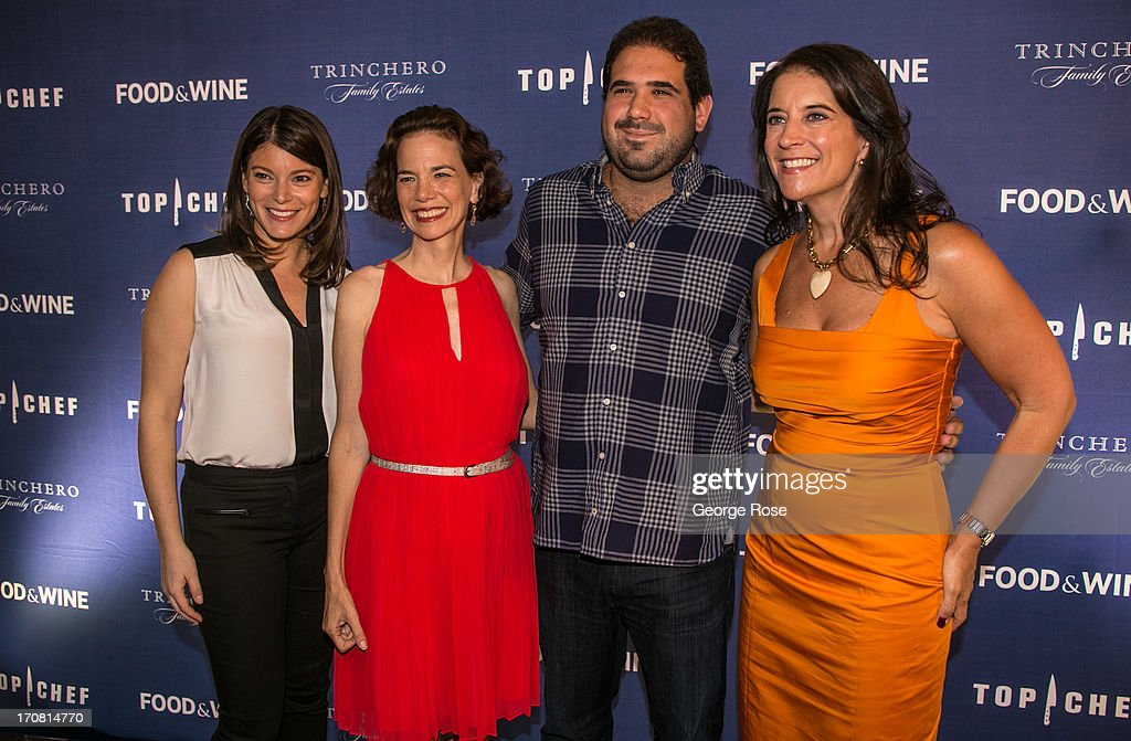 Bravo's Top Chef judge <a gi-track='captionPersonalityLinkClicked' href=/galleries/search?phrase=Gail+Simmons&family=editorial&specificpeople=4337508 ng-click='$event.stopPropagation()'>Gail Simmons</a> (L-R) poses with Food & Wine Magazine Editor-in-Chief Dana Cowen, Best New Chef Jose Enrique, and Publisher Christina Grdovic on June 13, 2013, in Aspen, Colorado. The 31st Annual Food & Wine Classic brings together the world's top chefs and vintners in a culinary and beverage celebration.