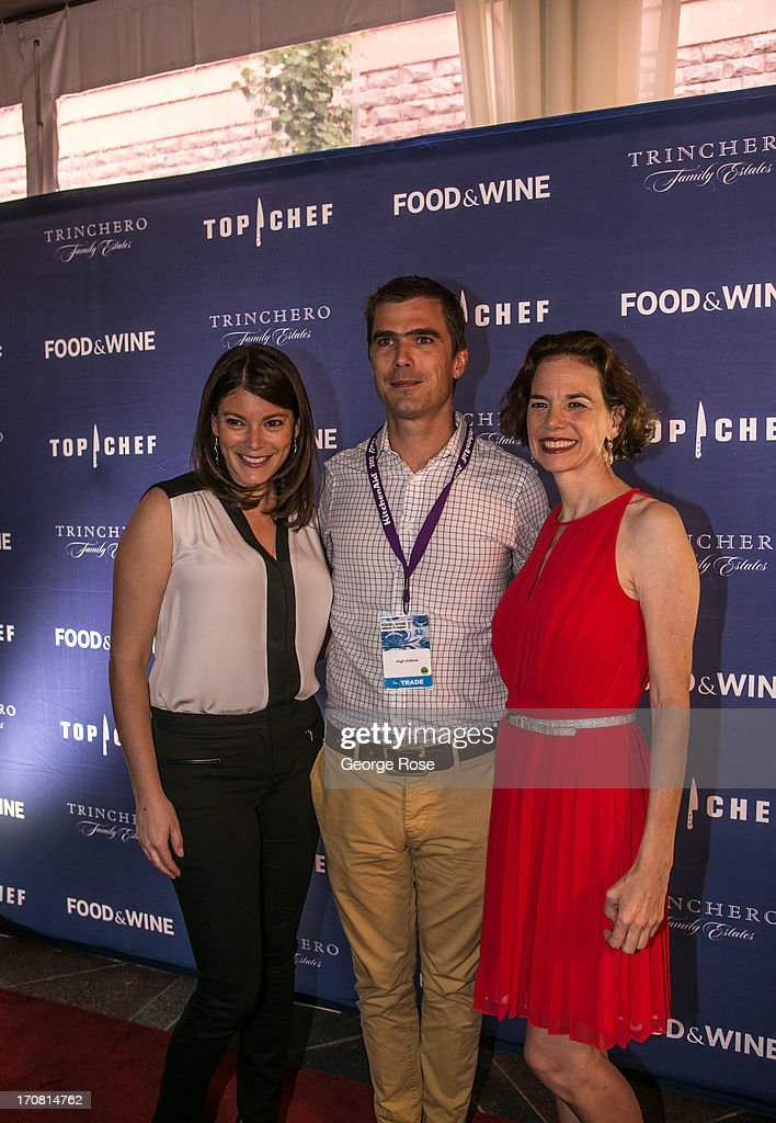 Bravo's Top Chef judge Gail Simmons (L-R) poses with Top Chef's Hugh Acheson and Food & Wine Magazine Editor-in-Chief Dana Cowen on June 13, 2013, in Aspen, Colorado. The 31st Annual Food & Wine Classic brings together the world's top chefs and vintners in a culinary and beverage celebration.