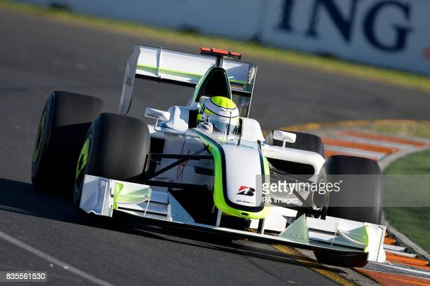Brawn GP's Jenson Button during the Australian Grand Prix at Albert Park Melbourne Australia
