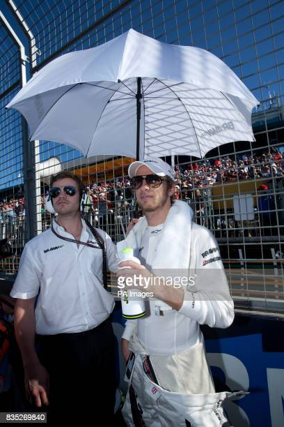 Brawn GP's Jenson Button prior to the Australian Grand Prix at Albert Park Melbourne Australia