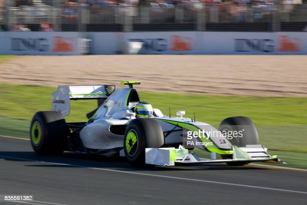 Brawn GP's Rubens Barrichello during the Australian Grand Prix at Albert Park Melbourne Australia