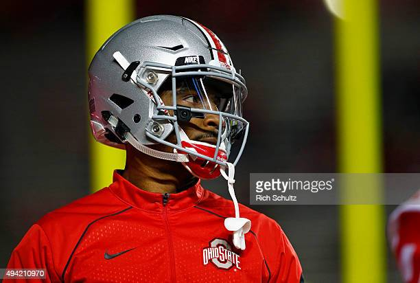 Braxton Miller of the Ohio State Buckeyes during warmups before a game against the Rutgers Scarlet Knights at High Point Solutions Stadium on October...