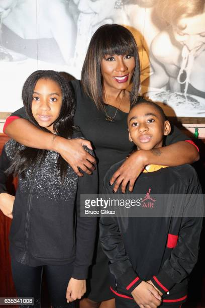 Braxton Montelus Carter mother Towanda Braxton and daughter Brooke Carter pose as she promotes her WE television series 'Braxton Family Values' at...