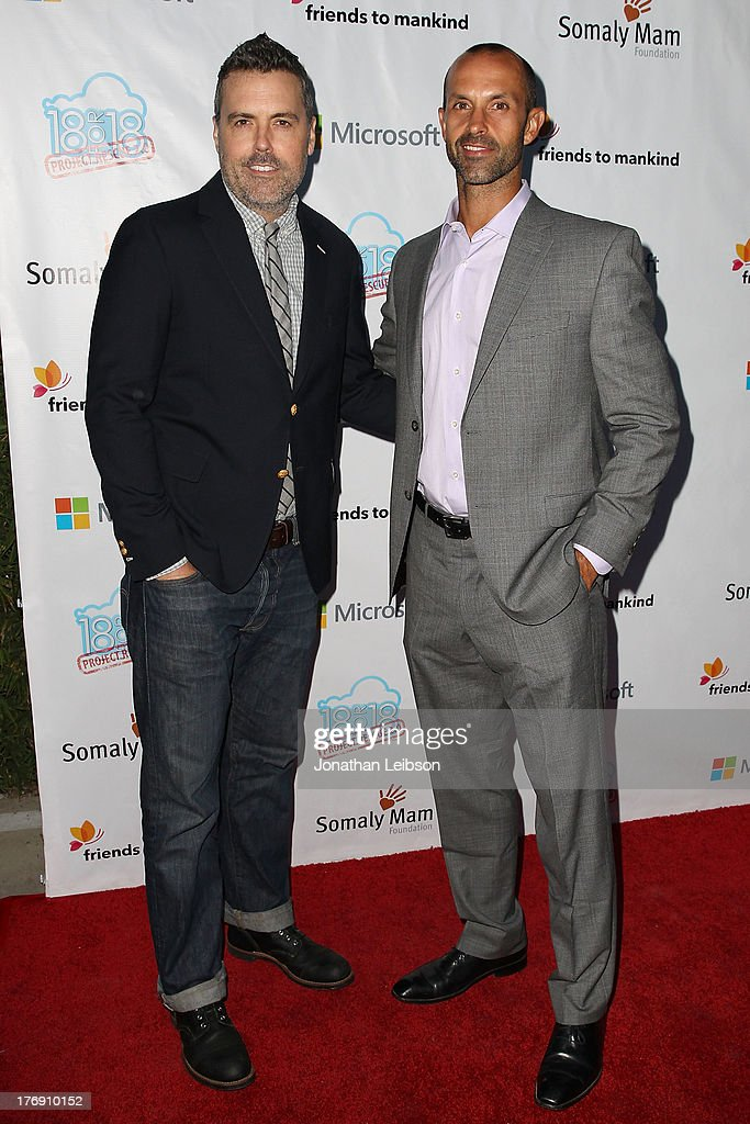 <a gi-track='captionPersonalityLinkClicked' href=/galleries/search?phrase=Braxton+Pope&family=editorial&specificpeople=4498194 ng-click='$event.stopPropagation()'>Braxton Pope</a> and Chris Talbott attend the Microsoft & Friends To Mankind Present: 18for18 Benefiting The Somaly Mam Foundation At The Microsoft Experience - Venice Beach on August 18, 2013 in Venice, California.