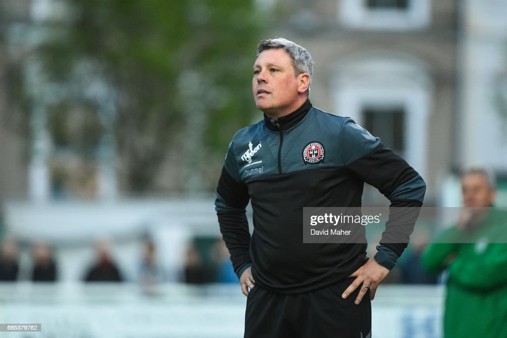Bray , Ireland - 19 May 2017; Bohemians manager Keith Long during the SSE Airtricity League Premier Division match between Bray Wanderers and Bohemians at the Carlisle Grounds in Bray, Co Wicklow.