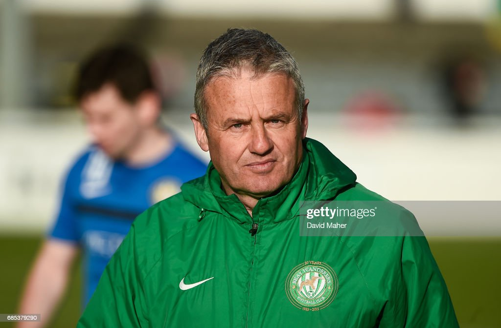 Bray , Ireland - 19 May 2017; Bray Wanderers manager Harry Kenny during the SSE Airtricity League Premier Division match between Bray Wanderers and Bohemians at the Carlisle Grounds in Bray, Co Wicklow.
