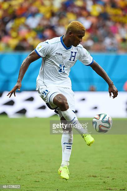 Brayan Beckeles of Honduras controls the ball during the 2014 FIFA World Cup Brazil Group E match between Honduras and Switzerland at Arena Amazonia...