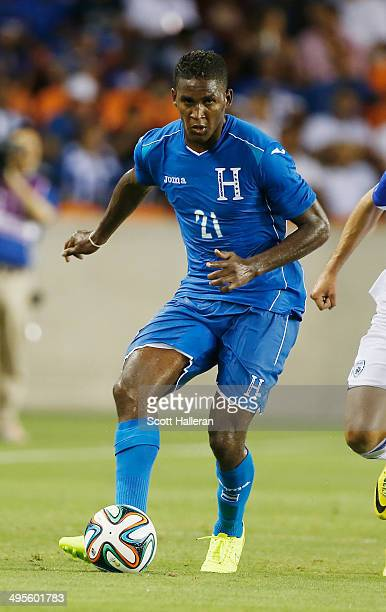 Brayan Beckeles of Honduras in action during their Road to Brazil match against Isreal at BBVA Compass Stadium on June 1 2014 in Houston Texas