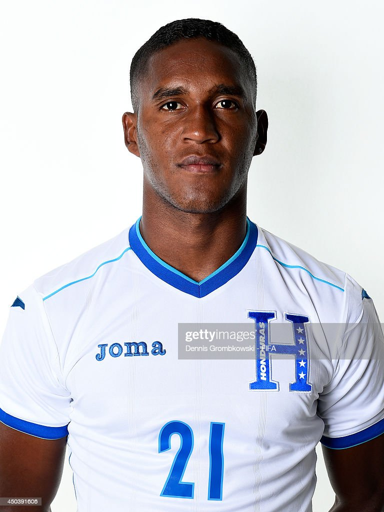 <a gi-track='captionPersonalityLinkClicked' href=/galleries/search?phrase=Brayan+Beckeles&family=editorial&specificpeople=7834358 ng-click='$event.stopPropagation()'>Brayan Beckeles</a> of Honduras poses during the Official FIFA World Cup 2014 portrait session on June 10, 2014 in Porto Feliz, Brazil.
