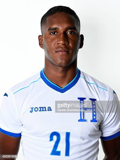 Brayan Beckeles of Honduras poses during the Official FIFA World Cup 2014 portrait session on June 10 2014 in Porto Feliz Brazil