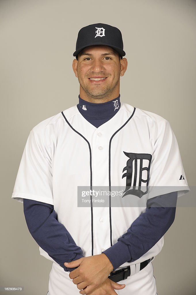 Brayan Villarreal #60 of the Detroit Tigers poses during Photo Day on February 19, 2013 at Joker Marchant Stadium in Lakeland, Florida.