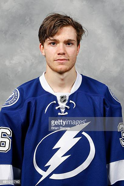 Brayden Point of the Tampa Bay Lightning poses for his official headshot for the 20152016 season on September 17 2015 at Amalie Arena in Tampa Florida