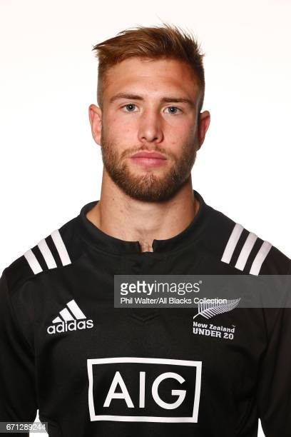 Braydon Ennor poses during the New Zealand U20 Headshots Session at Novotel Auckland Airport on April 22 2017 in Auckland New Zealand