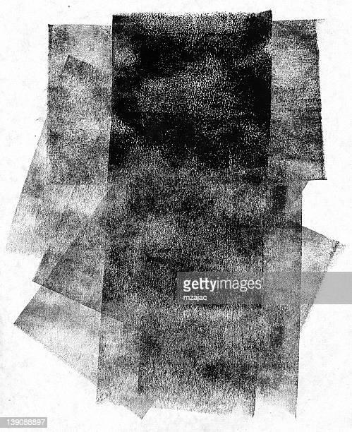 brayer Effekt mit lithography printmaker Tinte und brayer