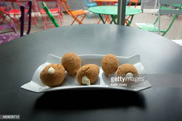 Braz1L Esfihas House a new Brazilian Cafe/World Cup hotspot Photo of a fried chicken snack called Coxinha June 19 2014