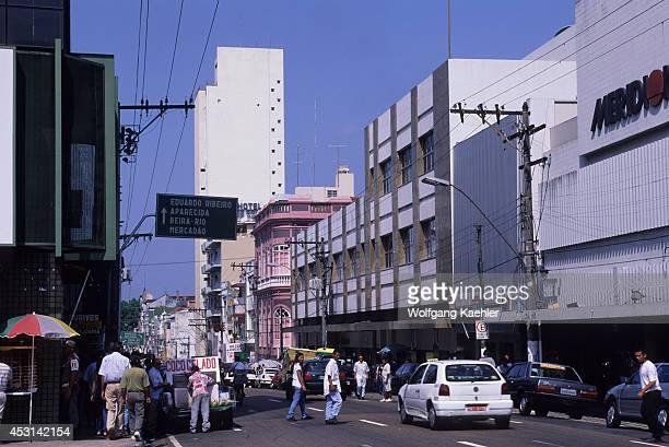Brazil Amazon Manaus Downtown Street Scene Main Shopping Street