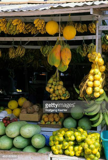 Brazil Amazon River Santarem Market Scene Fresh Fruit