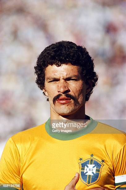 Brazil captain Socrates pictured before the Copa de Ora match between Brazil and Argentina held on January 4 1981 in Montevideo Uruguay