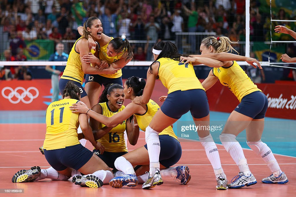 New London (WI) United States  City pictures : Brazil celebrates after defeating the United States to win the Women's ...