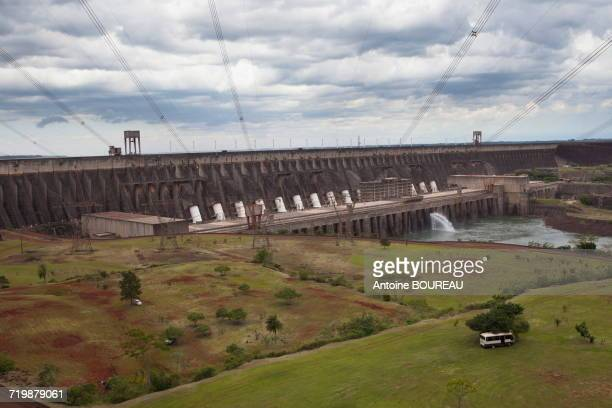 Brazil, Dam of Itaipu Bi-national located at the border between Argentina and Brazil seen from the Brazilian side
