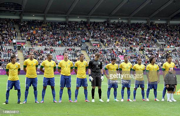 Brazil during the Men's Football first round Group C match between Brazil and New Zealand on Day 5 of the London 2012 Olympic Games at St James' Park...