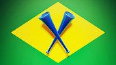 Cornets High Resolution Brazil Flag