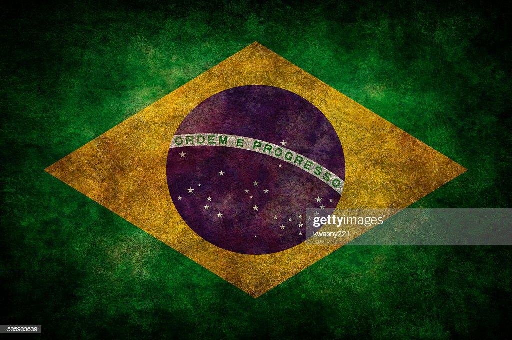 Brazil flag : Stock Photo