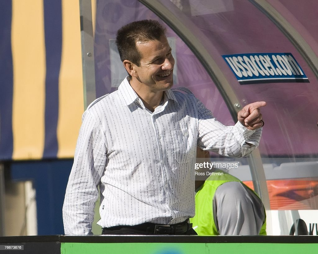 Brazil head coach Dunga looks on during an international friendly match between Brazil and the US Men's National Team at Soldier Field on September 9...