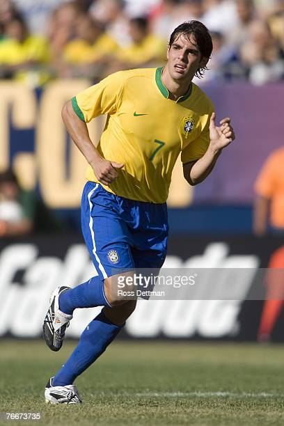 Brazil midfielder Kaka runs during an international friendly match between Brazil and the US Men's National Team at Soldier Field on September 9 2007...