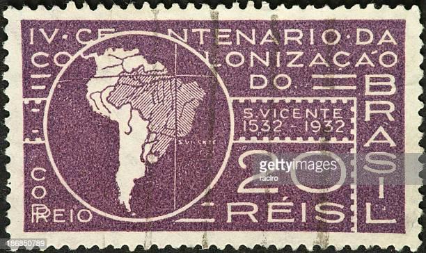 Brasil com um mapa da América do Sul