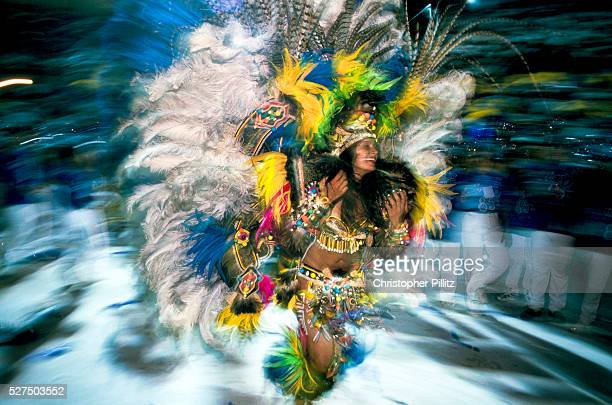 Brazil Parintins The Boi Bumba carnival and the 'Cunha Poranga' the Carnival queen dances to an infectious rhythm to the celebrate the three day...