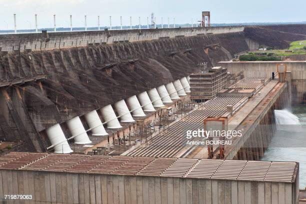Brazil, Pressure pipe of the dam of Itaipu Bi-national located at the border between Argentina and Brazil seen from the Brazilian side
