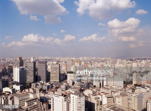 Brazil, Sao Paulo, city skyline looking south : Stock Photo