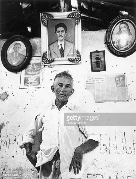 Population in the northeastThe peasant Jose Francisco de Sousa in his house in Pernambuco behind him portraits of relatives and of peasants' league...
