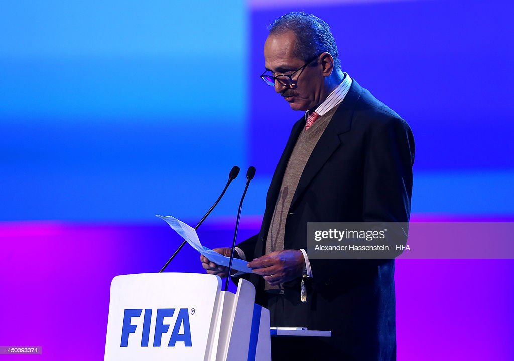 Brazil sports minister <a gi-track='captionPersonalityLinkClicked' href=/galleries/search?phrase=Aldo+Rebelo&family=editorial&specificpeople=772117 ng-click='$event.stopPropagation()'>Aldo Rebelo</a> speaks during the Opening Ceremony of the 64th FIFA Congress at the Transamerica Expo Center on June 10, 2014 in Sao Paulo, Brazil.