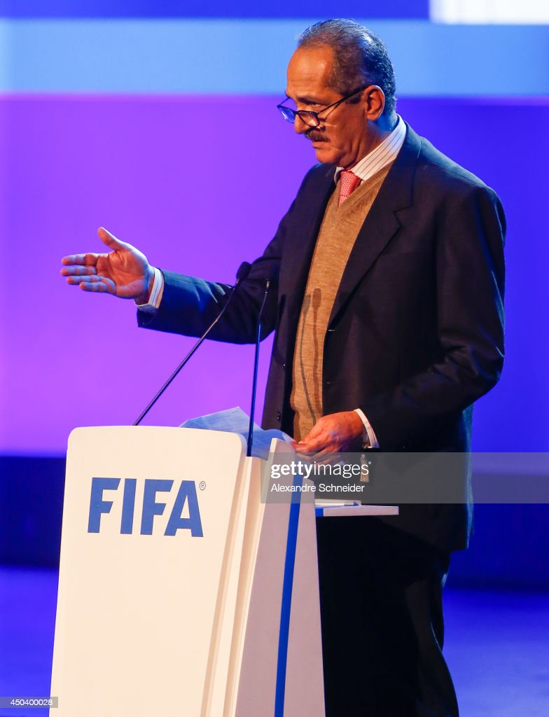 Brazil sports minister <a gi-track='captionPersonalityLinkClicked' href=/galleries/search?phrase=Aldo+Rebelo&family=editorial&specificpeople=772117 ng-click='$event.stopPropagation()'>Aldo Rebelo</a> speaks during the opening ceremony of the 64th FIFA Congress at the Expocenter Transamerica on June 10, 2014 in Sao Paulo, Brazil.