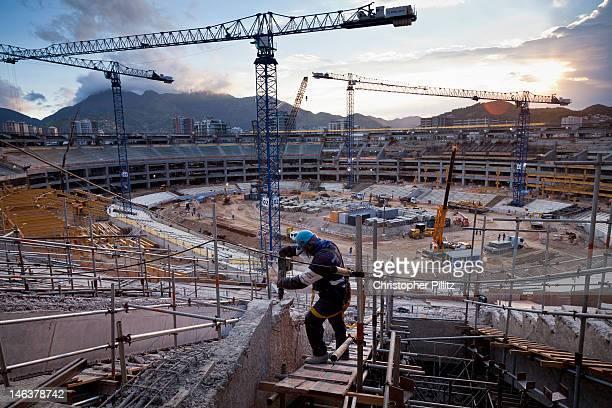 Brazil -The Maracana Stadium being rebuilt