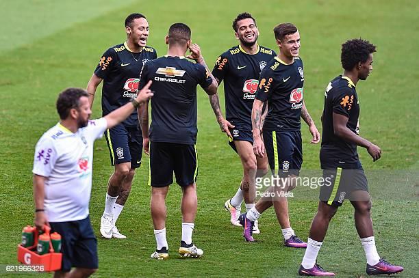 Brazil Training Session at Mineirao stadium on November 9 2016 in Belo Horizonte Brazil