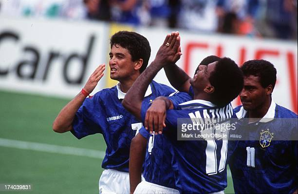 Brazil v Holland 07 July 1994 World Cup Bebeto and Brazilian players celebrate second goal