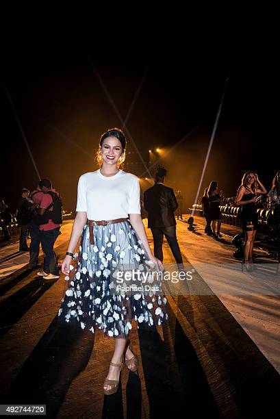 Brazilian actress Bruna Marquezine attends ELLE Fashion Preview on October 14 2015 in Rio de Janeiro Brazil