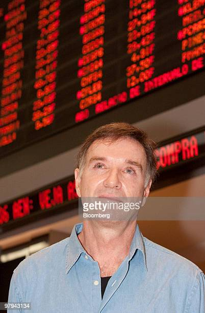 Brazilian billionaire Eike Batista attends the OSX Brasil SA initial public offering ceremony at the Sao Paulo Stock Exchange in Sao Paulo Brazil on...