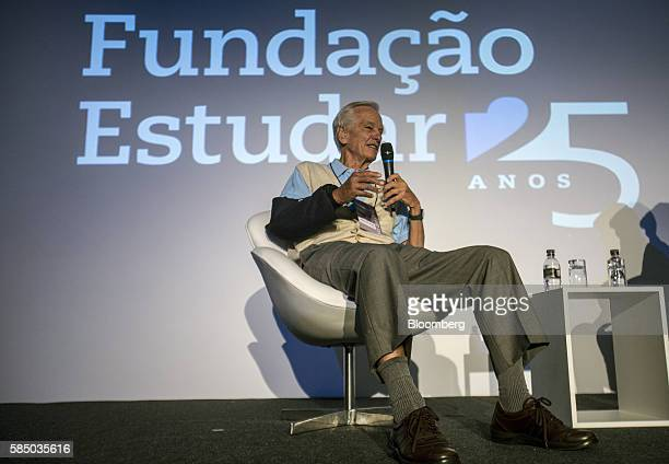 Brazilian billionaire Jorge Paulo Lemann cofounder of Fundacao Estudar speaks during an event for the nonprofit organization's 25th Anniversary in...