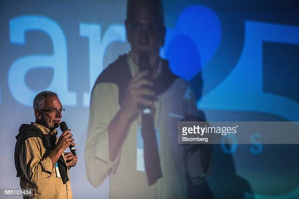 Brazilian billionaire Marcel Herrmann Telles cofounder of Fundacao Estudar speaks during an event for the nonprofit organization's 25th Anniversary...