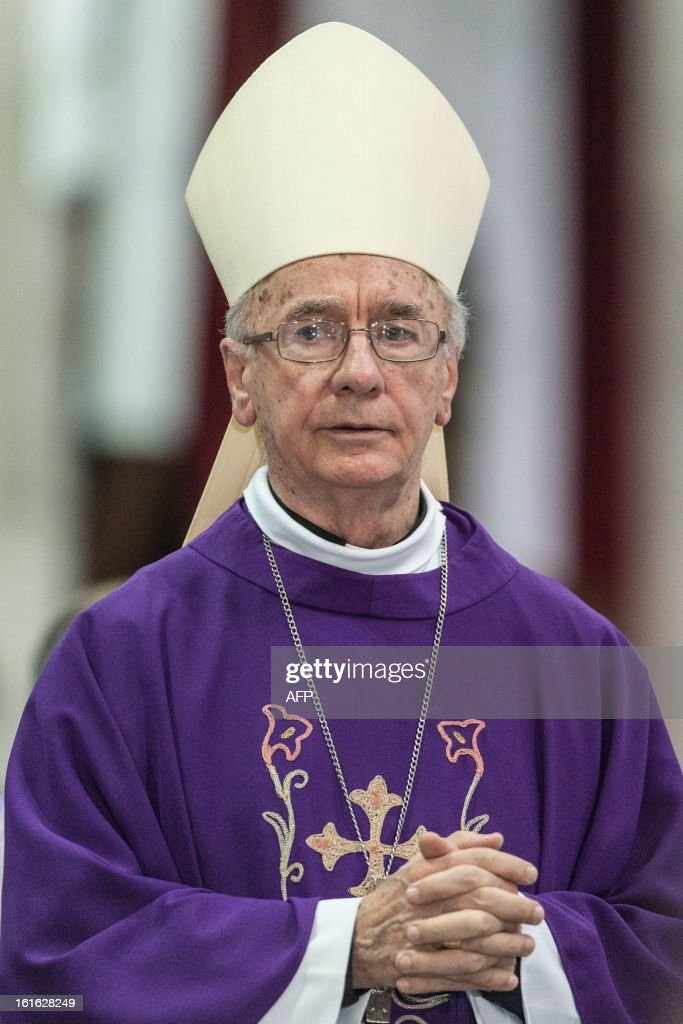 Brazilian Cardinal Claudio Hummes --considered in the running to be the future pope-- attends Ash Wednesday mass at Se Cathedral in Sao Paulo, Brazil, on Februrary 13, 2013. Benedict XVI, the German-born leader of the world's 1.1 billion Catholics, made the shock announcement that he would resign on February 28 due to old age. Brazilian Cardinal Odilo Pedro Scherer, ordained by Benedict XVI in 2007 and who heads Brazil's largest archdiocese with five million Catholics, said in a press conference that nationality and age should not be key factors in choosing who will succeed Benedict XVI. AFP PHOTO / Yasuyoshi CHIBA